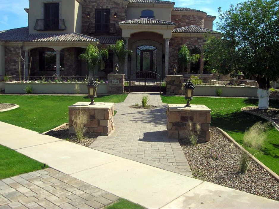 Arizona Front Yard Landscaping Ideas Part - 32: Artificial Lawn Patagonia, Arizona Paver Patio, Front Yard Landscaping Ideas