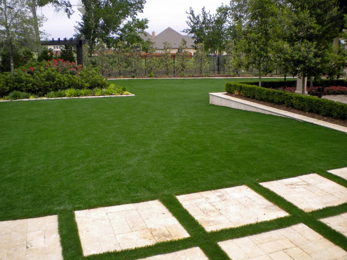Fake Turf Anthem, Arizona Landscape Rock, Backyard