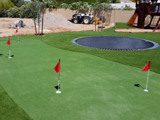 Green Lawn South Komelik, Arizona Putting Greens, Backyards artificial grass